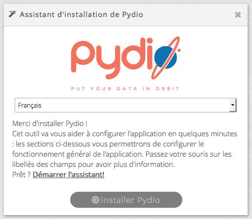 config pydio